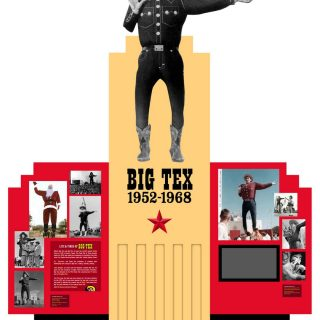 Big Tex Decade display
