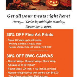 BWC Printmakers - Halloween Sale email