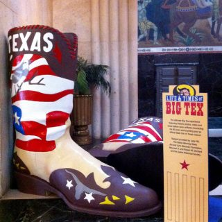Big Tex Boot display