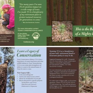 Texas Conservation Alliance - Fundraising brochure