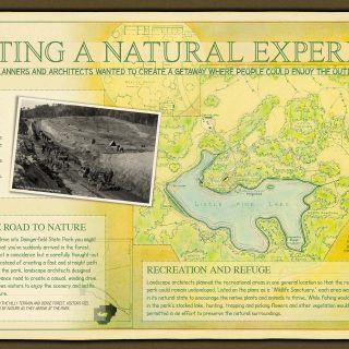 Dangerfield State Park interpretive panel