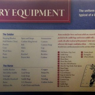 Cavalry Equipment panel