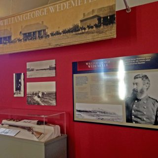 Capt. Wedemeyer exhibit wall