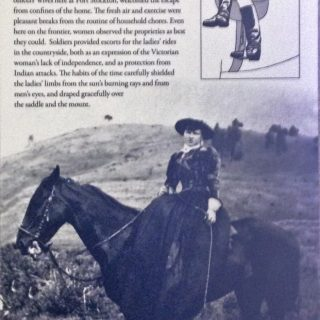 Riding side saddle