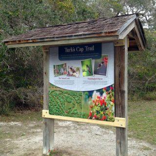 Goose Island State Park kiosk
