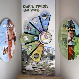 Park trash exhibit