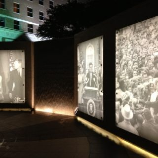 JFK Tribute nighttime