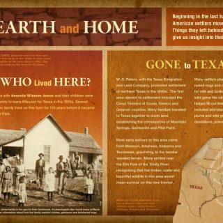 Cedar Hill State Park-Hearth and Home interpretive panel