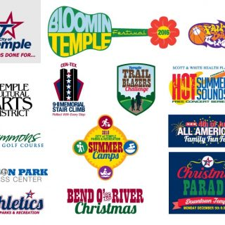 City of Temple event logos