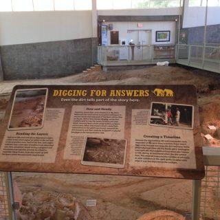 Excavation rail reader