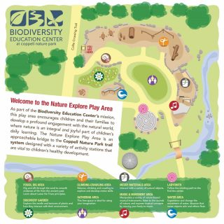 Map - Coppell Nature Explore Play Area