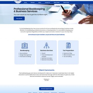 MyBookkeepingGuy.com business services site Visit the website