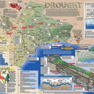 Map - San Antonio Express News - DROUGHT