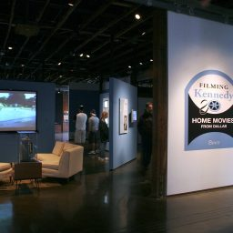 Filming Kennedy exhibit