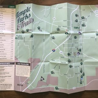 City of Temple Parks folding map