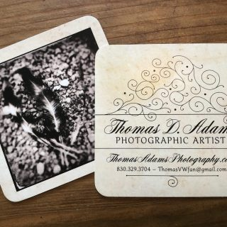 Thomas Adams Photography business card