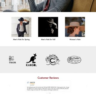 UptownHats.com e-commerce site Visit the website