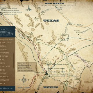 Map - Museum of the Big Bend, Historical trails