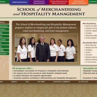 Website - University of North Texas College of Merchandising