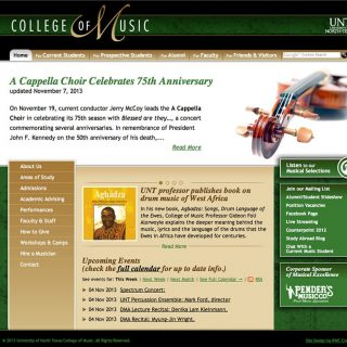 Website - University of North Texas College of Music